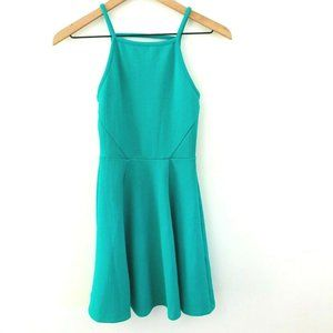 H&M Divided Solid Green Mini Dress